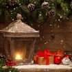 Ограждение Декор Кантри Фонарь с Подарками