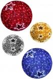 Шар световой с мишурой и звездами