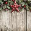 Ограждение Декор на дереве красная звезда