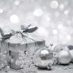 Ограждение Декор Серебро с Подарком и Шариками